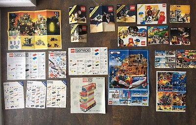 Lego Space Instructions, Catalogues & Service Manuals 1970's 80's & 90's