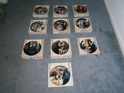 Lot of 10 Gone With The Wind Golden Anniversary Series Plates, W L George COA's