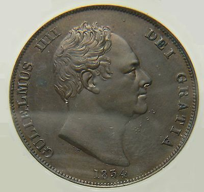 1834 GEF/EF Great Britain William IV Penny ☆☆☆ Price Reduced ☆☆☆