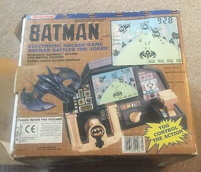 Grandstand Electronic Arcade Batman Battles The Joker Game Boxed Fully Working