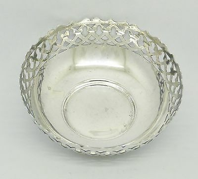 Beautiful Vintage Solid Sterling Silver Pin Trinket Dish Hm 1945 - Great Gift!