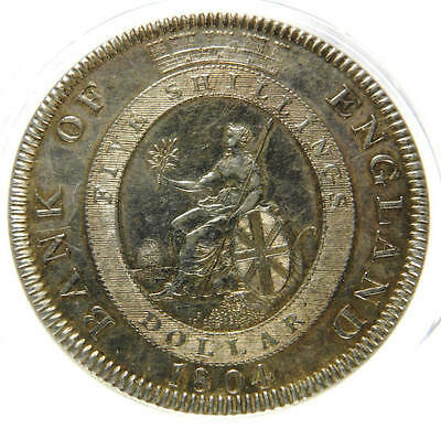 1804 EF George III Bank of England Dollar  ESC 144 CGS 60, AU58-MS60