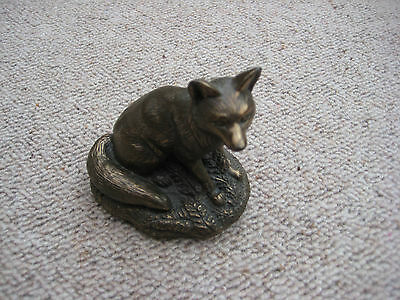 Purbeck Designs Barbara Linley Adams resin bronze effect glaze - fox rare