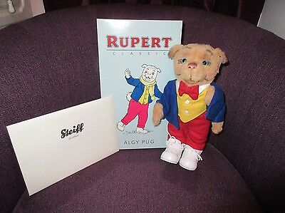 Steiff Algy Pug Rupert The Bear  Boxed With Certificate