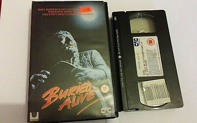 BURIED ALIVE - rare  vhs video  - large box horror