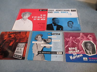 "Jazz Lps And 10"" Lps Job Lot Louis Armstrong / Jelly Roll Morton"
