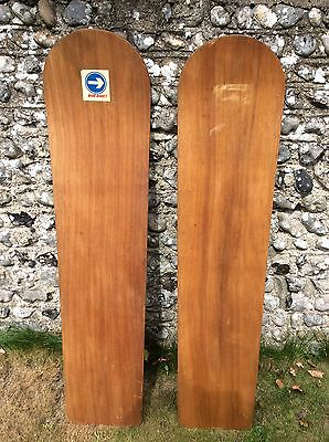 Vintage wooden body belly board 1950s 2 off great condition