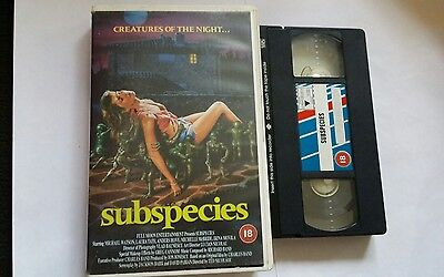 SUBSPECIES  -  rare  vhs video  - large box horror