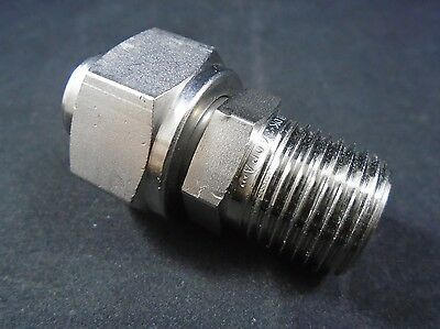 """SWAGELOK Stainless Steel 3/4"""" Male 3/4"""" Female NPT VCO O-Ring Face Seal Fitting"""