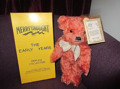 Boxed Merrythought Replica  Teddy Bear Red Mohair Ltd. Ed.