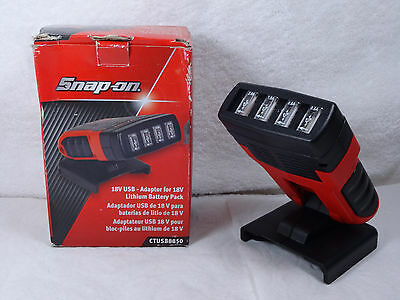 NICE Snap-on CTUSB8850 Four Port USB Device Adapter/Charger for 18V Battery Pack