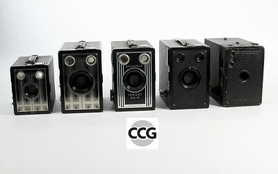 Lot of 5 Kodak Brownie Box Cameras  ( various models)