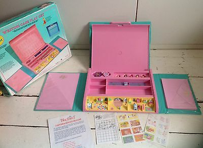 Vintage Polly Pocket Writing Case Play Set Boxed Complete Apart From Pencils