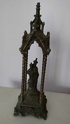 Antique Catholic Niche Shrine Statue Mary Madonna French Our Lady Lourdes Jesus