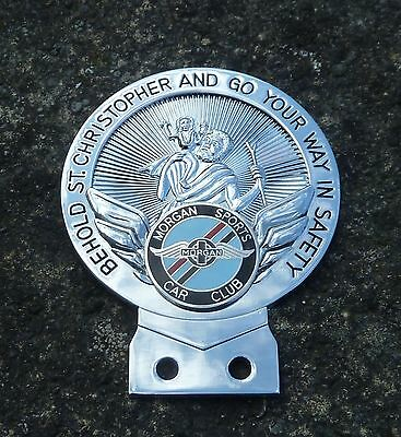 Morgan Sports Car Club St Christopher Car Badge