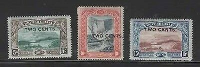 1899 BR. GUIANA complete surch. set SG 222/4 - CV £11. LHM - see note