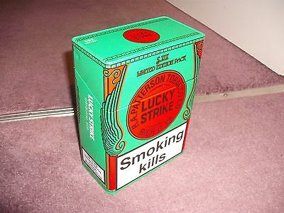 Lucky Strike LARGE Cigarette Packet Tin