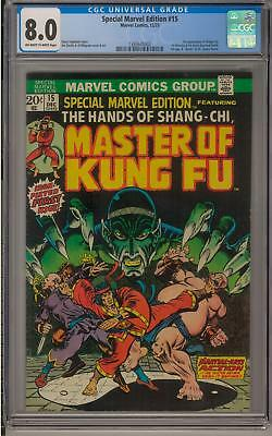 Special Marvel Edition #15 CGC 8.0 (OW-W) 1st Shang-Chi