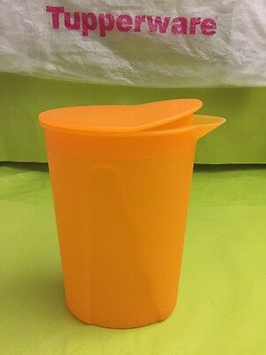TUPPERWARE pichet porte de frigo orange vif 1 L broc cruche pot