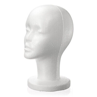 Female White Foam Styrofoam Mannequin Hat Cap Dummy Wig Head display Holder V8T5