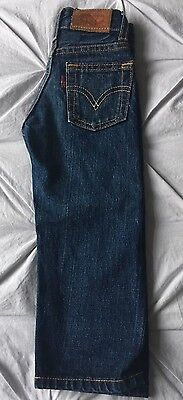 Vintage Kids Big E 501 Denim Jeans  Redline Selvedge Button Fly Age 1.5 Yr