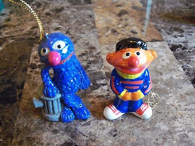 2 Vintage 1971 Ornaments Grover & Ernie By Muppets Inc Made In Korea