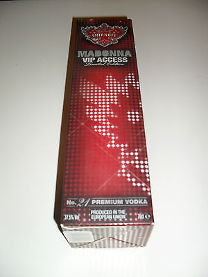 MADONNA UK Smirnoff Limited Edition Collectors Box AS NEW RARE Long Out of Print