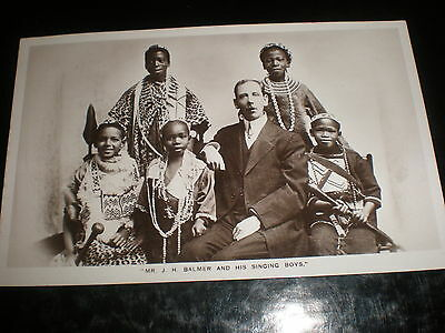 Old postcard African Song J H Balmer and his singing boys c1900s