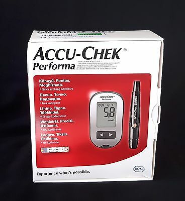 New Accu-Chek Performa Blood Glucose Meter  + 50 Test Strips  Infrared by Roche