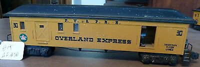 "American Flyer S Scale, No. 30 F.Y. & P.R.R. ""Overland Express"" Baggage Car"
