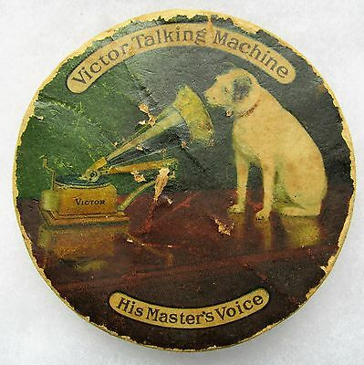 Victor Phonograph Camden NJ Sewing Advertising Pin Holder Nipper & Sousa Record