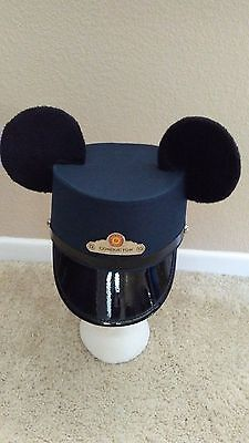 Disney California Adventure Red Car Trolley Conductor Hat w/ Mickey Mouse Ears