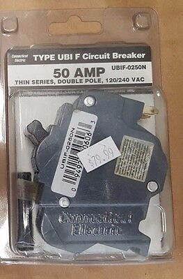 Federal Pacific Thin Series Molded Case Circuit Breaker 2P50 NEW NEVER USED #89