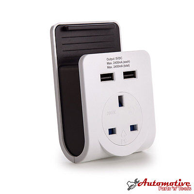 USB Wall Plug Power Adapter Dual Port Charger AC-Passthrough for iPhone 5 6 6s 7