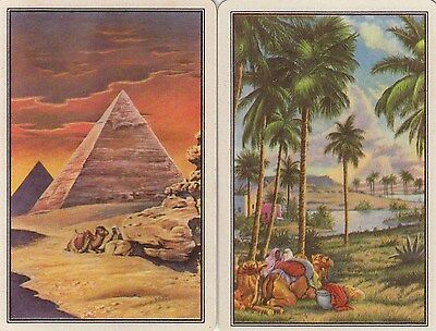Vintage Swap/Playing Card - 2 SINGLE - EGYPTIAN SCENES