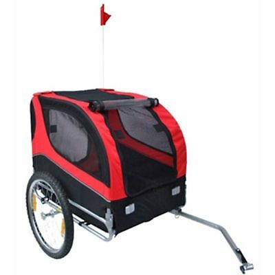 Bike Trailer Dog/Pets Bicycle Cargo Carrier Trailer Garden Luggage Red