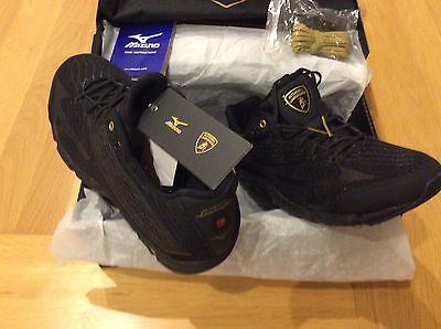 Automobili Lamborghini Mizuno Wave Running Shoes Boxed New Black size 44 uk 9.5