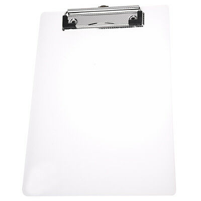 Clipboard Plate Door Translucent Block clip for Paper A5 Office FK