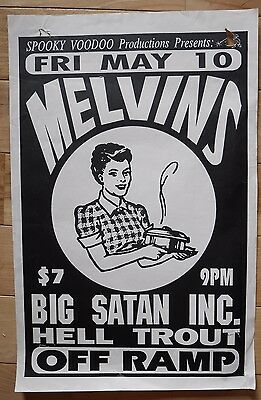 Original MELVINS flyer / poster, early 1991 Seattle show at Off Ramp Nirvana
