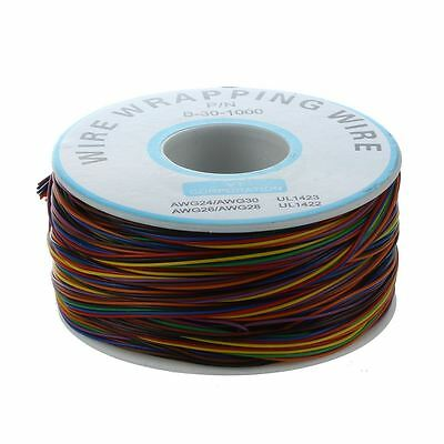 P/N B-30-1000 200M 30AWG 8-Wire Colored Insulation Wrapping Cable PK