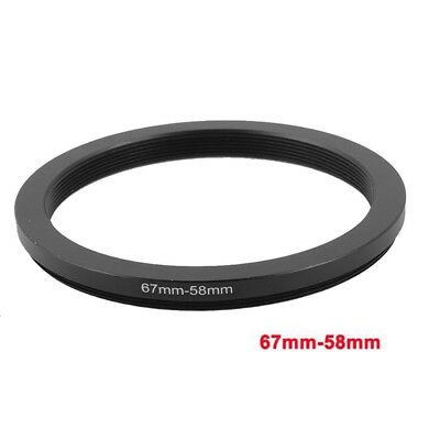 67mm-58mm 67mm to 58mm Step Down Ring Adapter Black For CP