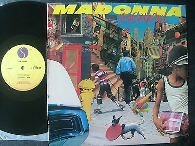 """Madonna 1982 Usa 12"""":everybody+Picture Cover-No Picture Cover On Uk 12""""near Mint"""