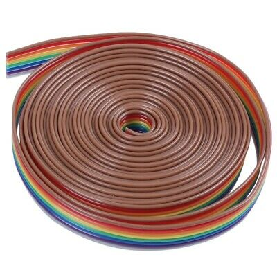 10ft 8 Pin Flexible Flat IDC Ribbon Cable 1.27mm Pitch F6A7