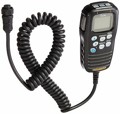 Icom HM-157B CommandMic Remote Marine Microphone (Black) Brand New!