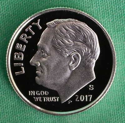 2017 S 90% Silver Proof Roosevelt Dime Ten-Cent Coin 10c from US Mint Proof Set