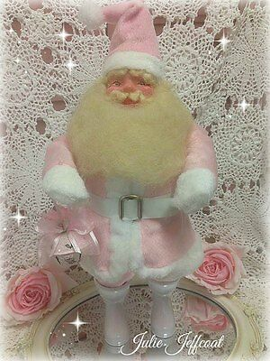 "SHABBY ~VERY RARE ~VINTAGE ~PINK ~ ""HAROLD GALE"" ~SANTA ~CHRISTMAS DOLL w/ BELL"