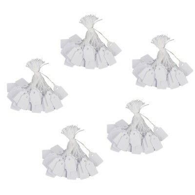 Jewelry Clothes Label String Price Tag 13 x 26mm Pack of Approx.500Pcs White CP