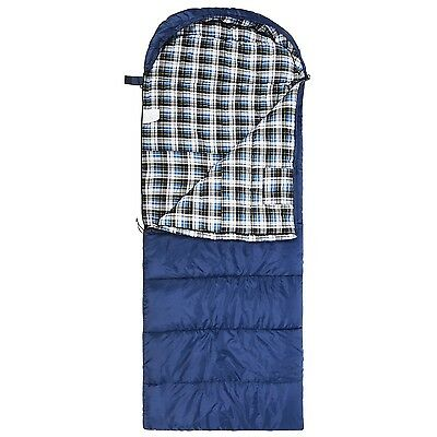 Cotton Flannel Sleeping Bag for Adults XL 23/32F Comfortable Envelope with Co...
