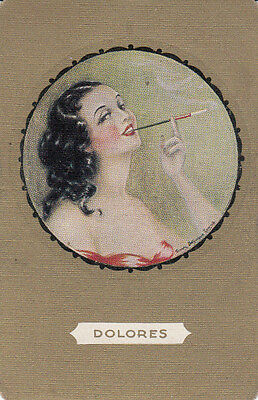 Vintage Swap/Playing Card -1 SINGLE- NAMED LADY - 'DELORES'