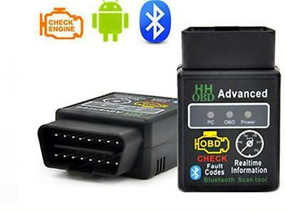 2 OBDII Car Auto Bluetooth Interface V2.1 Diagnostic Tool ELM327 Scanner HH OBD